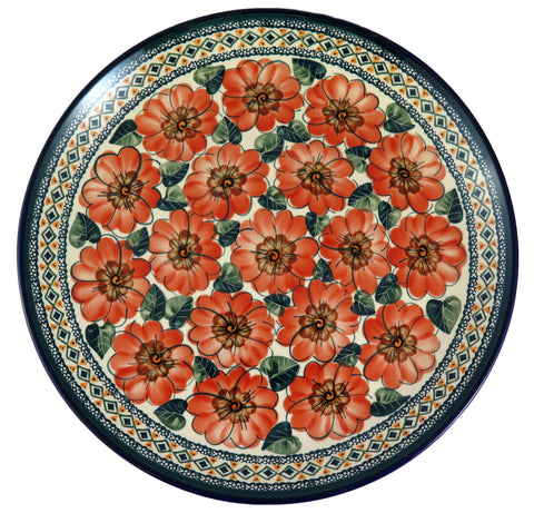 "1348-Art124 extra large 13"" round serving tray top view"