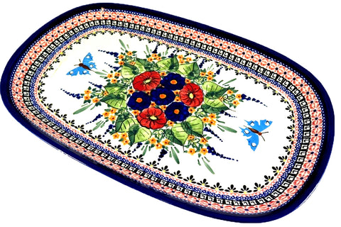 1456-Art149 large rectangular platter top view