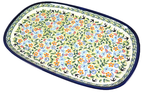 1456-DU182 large rectangular platter top view