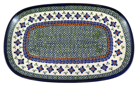 1456-DU60 large rectangular platter top view