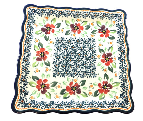 "Square Luncheon Plate, 9.5"" x 9.5"""