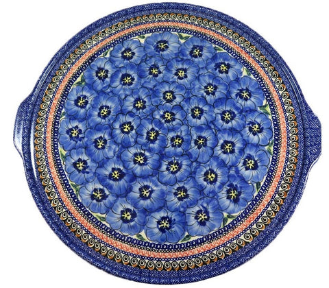 "1690-Art148 extra large 16"" round serving tray"