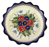 "1765-Art149 fluted 9"" pie plate top view"