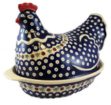 1773/1788-41 oval casserole dish with hen cover side view