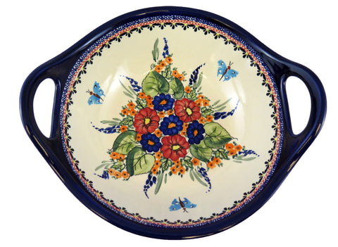 "Medium Serving Bowl with Handles; 9.5"" x 2.75"""