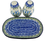 "Salt & Pepper Shakers with Tray; 6.75"" x 3.75"" x 3.5"""