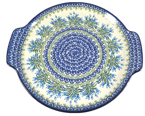 Round Platter with Handles; 11""