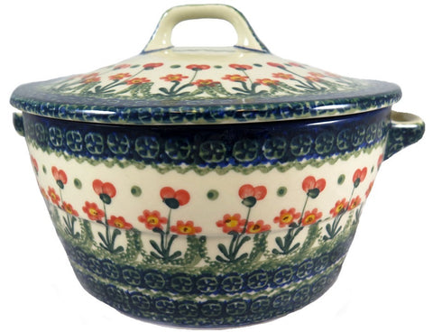 32780-a144 round covered casserole side view