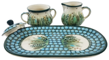 "Cream & Sugar Set with Tray; 4"" x 5"" x 9.5"" Unikat"