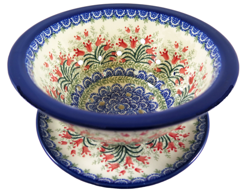 "Berry Bowl with Saucer; 8"" x 3.75"""