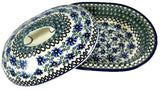 36170-a184 medium oval covered casserole top off view