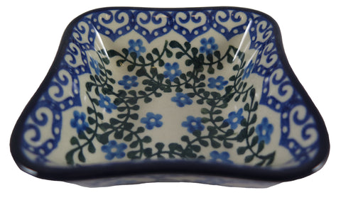 "Square Fluted Bowl; 4.5"" x 4.5"" x 1.5"""