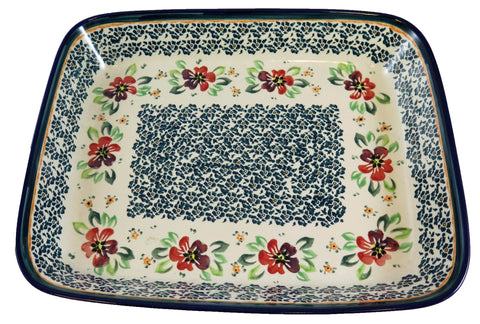 372-DU116 large shallow rectangular baker top view