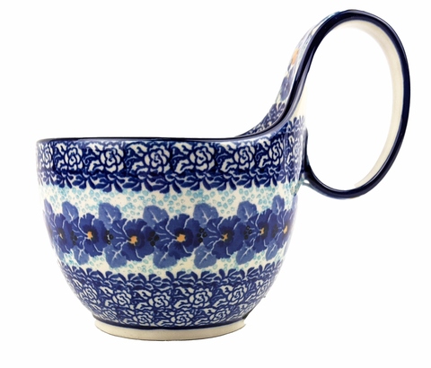"Soup Bowl with Loop handle: 6.25"" x 3.5"""