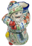 "Polish Pottery Unikat Santa Statuette About 9 "" Tall 5"" Wide Opening 3"""