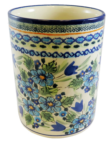 "Utensil Jar, Wine Cooler, Vase; 7"" tall"