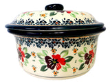 "Round Covered Casserole; 7.5"" x 3.5"""