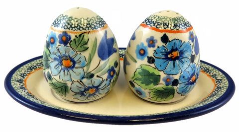 "Salt & Pepper Shakers with Tray; 4.25"" x 6"""