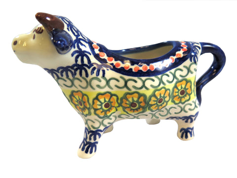 14130-0107 Cow creamer side view