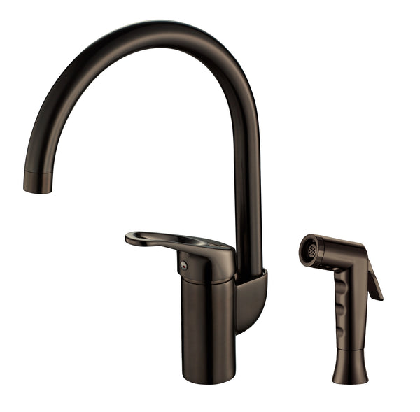 Grana Dish Genie Agrion kitchen side spray faucet in oil rubbed bronze finishing