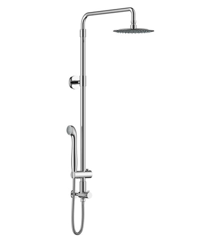 Grana Aurea Retrofit shower system features adjustable height rain shower head and handheld shower. Easy installation in 20 minutes.