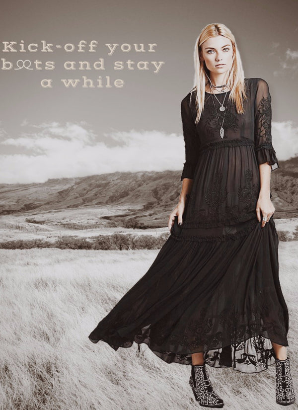 Stay A While Boho Dress | bitpix.io