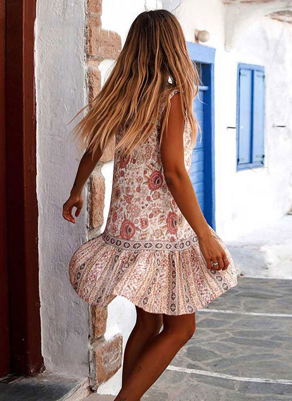 Floral Print Boho Dress | bitpix.io