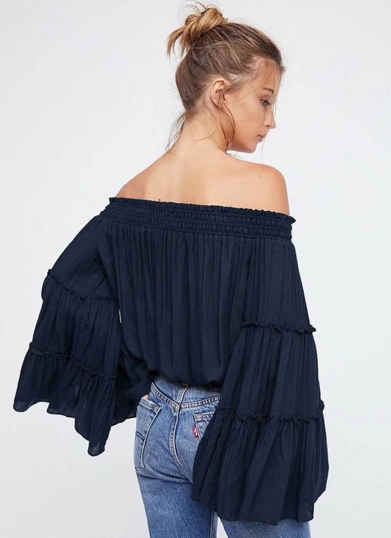 Off the Shoulder Crop Blouse | bitpix.io