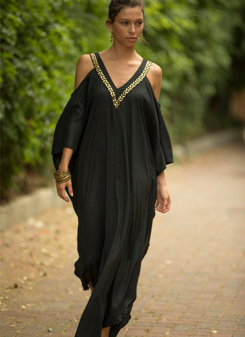 Cover-Up Cold Shoulder Caftan | bitpix.io