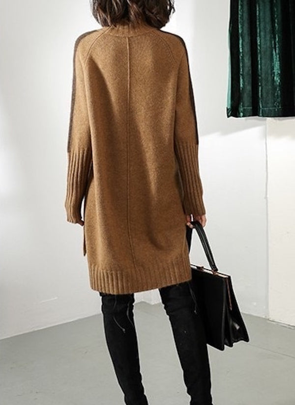 Ribbed Turtleneck Sweater Dress | bitpix.io