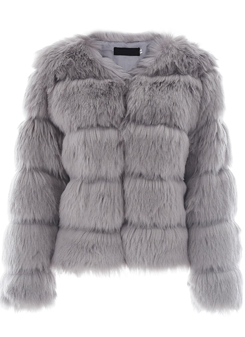 Fluffy Faux Fur Jacket | bitpix.io