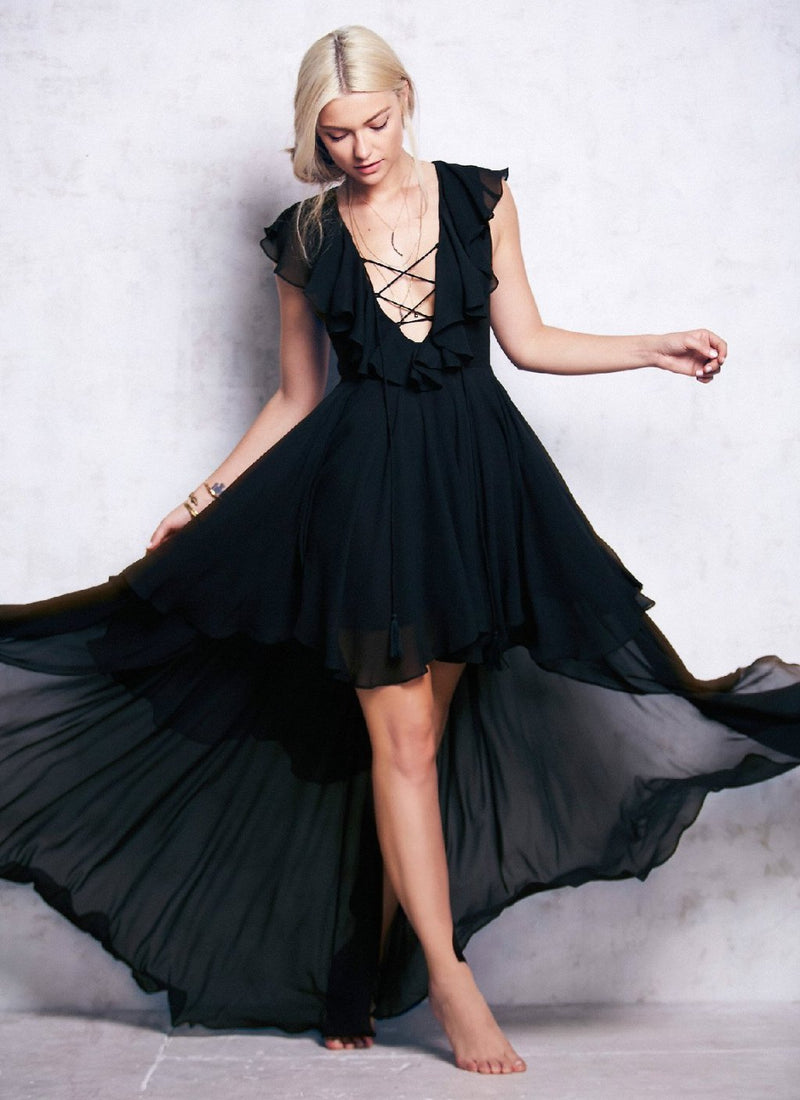 Romance Mesh Ruffle Tier Dress | bitpix.io
