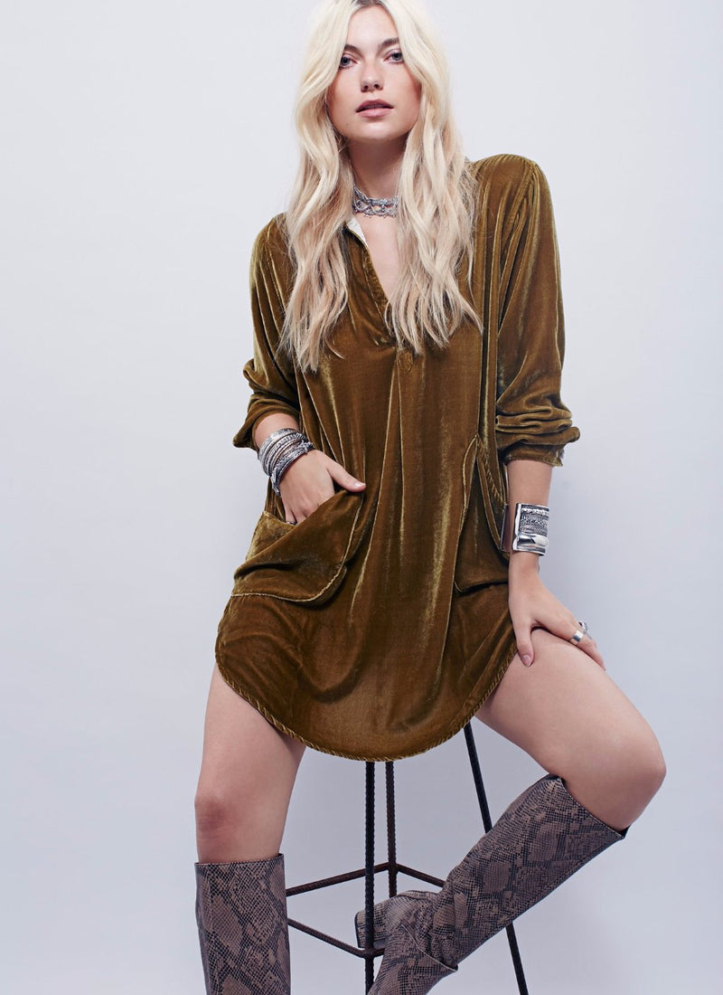 Velvet Shirtdress | bitpix.io