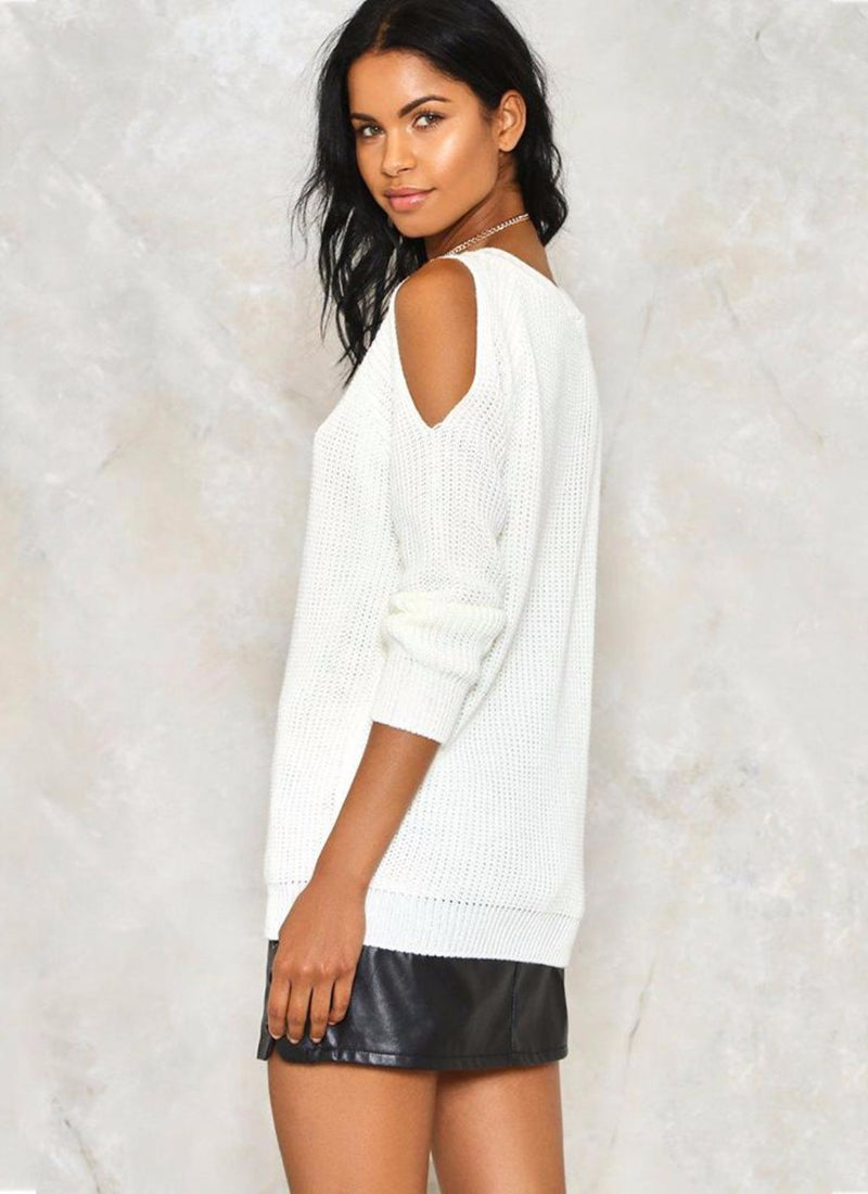 Cold Shoulder Sweater | bitpix.io