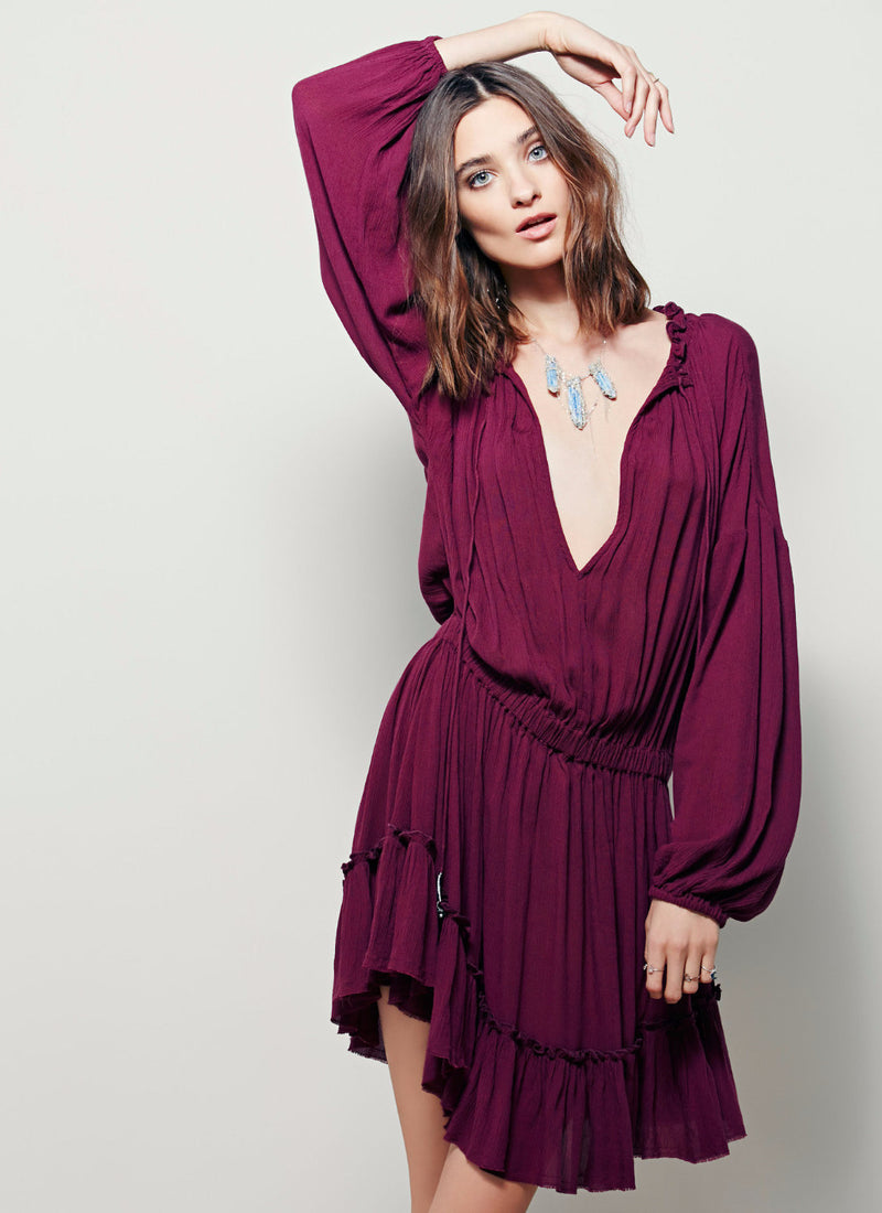 Boho Dress With Ruffles | bitpix.io