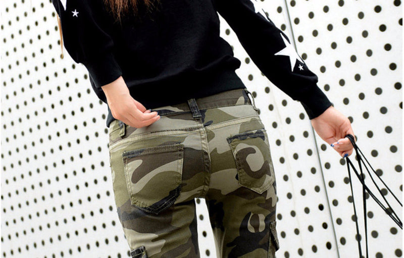 Slim Camo Stretch Jeans | bitpix.io