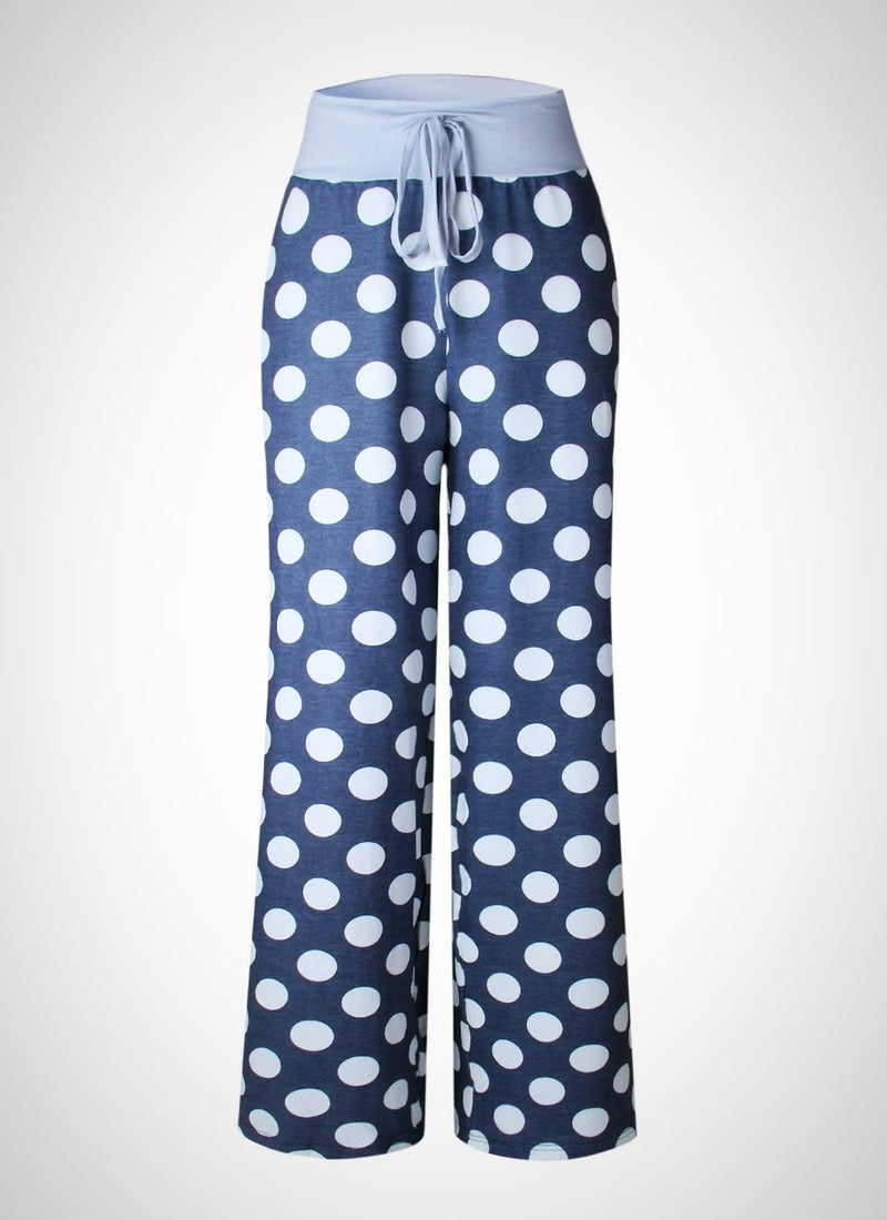 Cozy Loose Lounge Dot Pants | bitpix.io