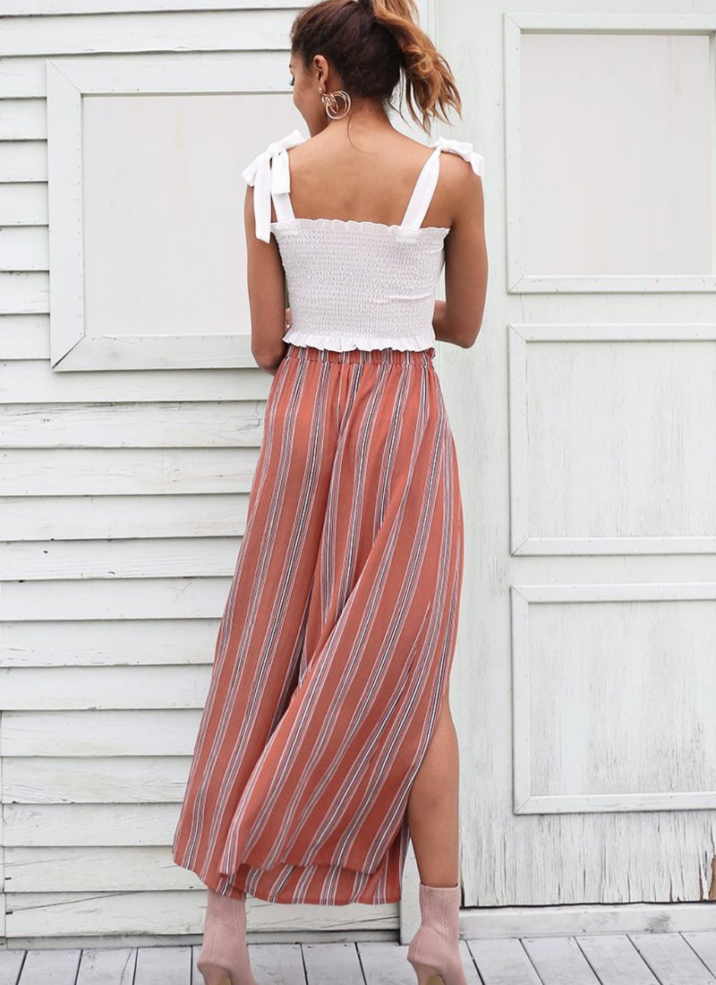 High Slit Striped Pants | bitpix.io