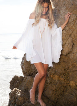 Sheer Ruffle Beach Dress | bitpix.io