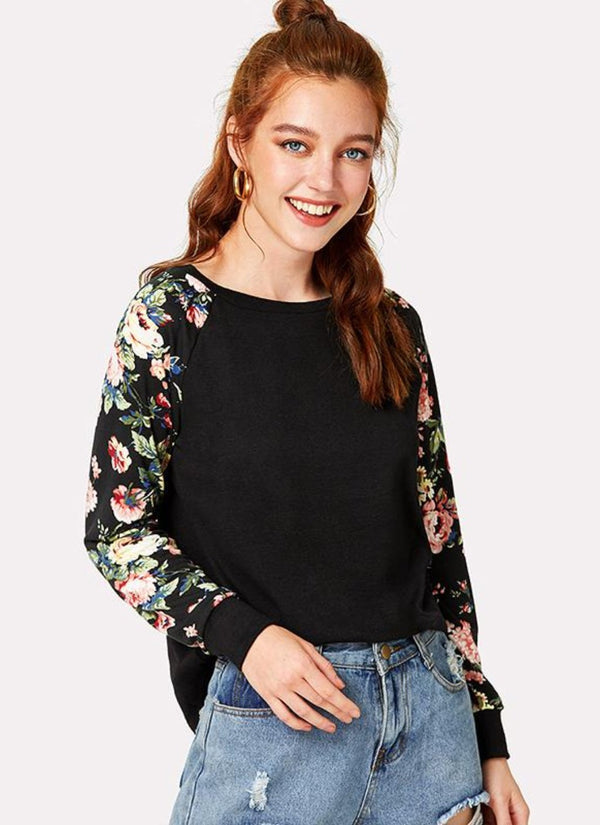Delicate Bouquet Mixed Blouse | bitpix.io