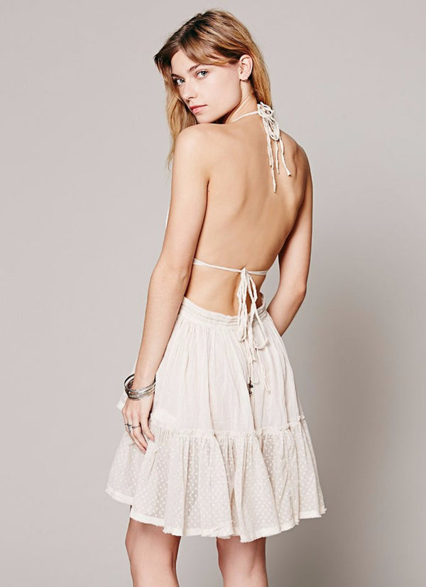 Backless Boho Summer Dress | bitpix.io