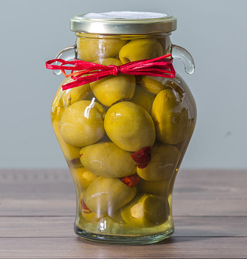 Garlic & Chili Stuffed Gordal Olives (20 oz)
