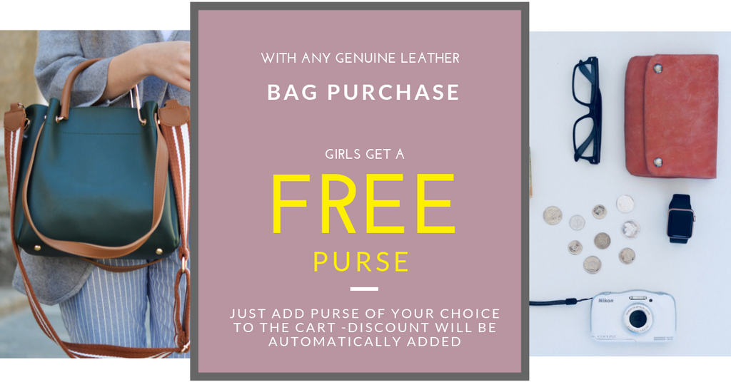 Women Get A Free Purse with each purchase! Hurry offer ends this week