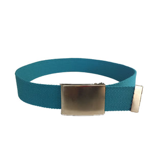 DEXTER - Cotton Nylon Webbing Belt with Silver Buckle  - Belt N Bags