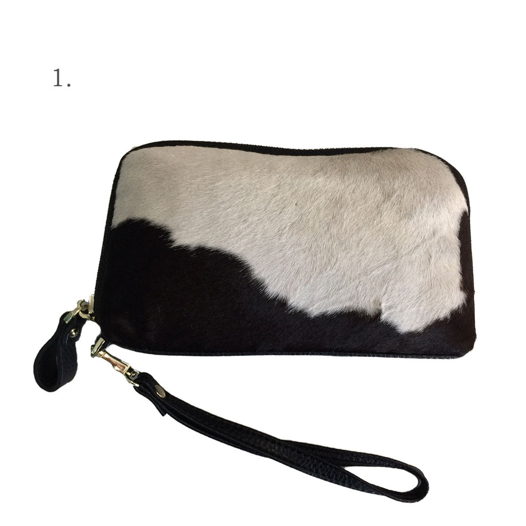 CARMICHAEL- Ladies Natural Leather Cowhide Wristlet Wallet Purse  - Belt N Bags