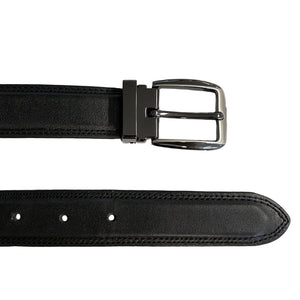 LIAM - Mens Black Genuine Leather Belt  - Belt N Bags