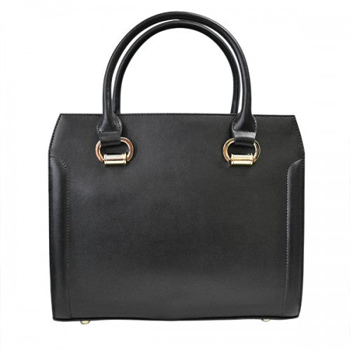 VICTORIA - Black Genuine Leather Handbag