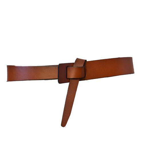 SEAFORTH - Brown Leather Knot Waist belt - BeltNBags