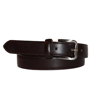 BYRON - Dark Brown Genuine Leather Boys Belt  - Belt N Bags