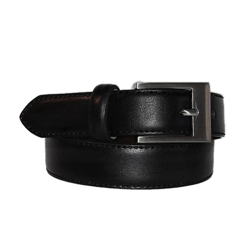 PRESTON - Black Genuine Leather Boys Belt